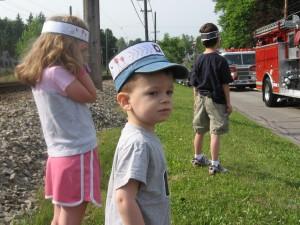 Marah, Quin and Grant at the Memorial Day Parade